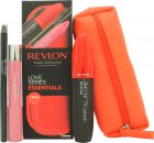 Revlon Love Series Essentials Set de Regalo 1 x All-in-One Rímel + 1 x Balm Stain + 1 x ColorStay Eyeliner + Bolsa de Cosméticos