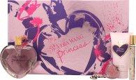 Vera Wang Princess Set de Regalo 100ml EDT + 10ml Bola Perfumante + 75ml Loción Corporal + Brillo Labial