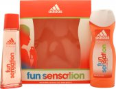 Adidas Fun Sensation Set de Regalo 75ml EDT + 250ml Gel de Ducha