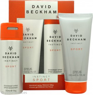David Beckham Instinct Sport Set de Regalo 150ml Desodorante en Vaporizador Corporal + 200ml Gel de Ducha