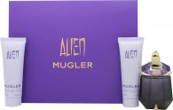 Thierry Mugler Alien Set de Regalo 30ml EDP Recarga + 50ml Loción Corporal + 50ml Gel de Ducha