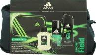 Adidas Sport Field Set de Regalo 100ml EDT + 150ml Vaporizador Corporal + 250ml Gel de Ducha + Bolsa