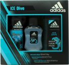 Adidas Ice Dive Set de Regalo 50ml EDT + 250ml Gel de Ducha + 150ml Desodorante Vaporizador Corporal