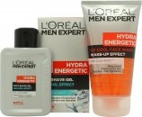 L'Oreal Men Expert Hydra Energetic Kick Start Kit Set de Regalo 150ml Ice Cool Limpiador de Cara + 100ml Ice Cool Gel despueés del Afeitado