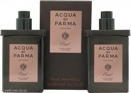 Acqua di Parma Oud Set de Regalo 2x 30ml EDC Recambio para Viaje