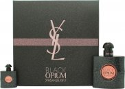 Yves Saint Laurent Black Opium Set de Regalo 50ml EDP + 7.5ml EDP Vaporizador de Viaje