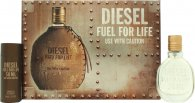 Diesel Fuel For Life Set de Regalo 30ml EDT Vaporizador + 50ml Gel de Ducha