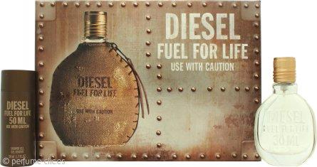Diesel Fuel For Life Set de Regalo 30ml EDT Vaporizador + 50ml Gel de Ducha