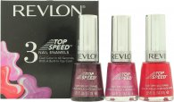 Revlon Top Speed Nail Enamels Set de Regalo 3 x 14.7ml (Orchid - Fire - Sugar Plum)