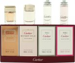 Cartier Miniatures Set de Regalo 4ml Declaration EDT + 4ml Declaration D'Un Soir EDT + 4ml Eau de Cartier EDT + 4ml Eau de Cartier Concentree EDT