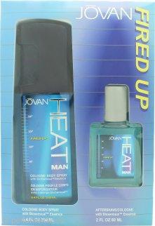 Jovan Heat Fired Up Set de Regalo 60ml Aftershave + 250ml EDC Vaporizador Corporal