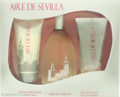 Instituto Español Aire de Sevilla Set de Regalo 150ml EDT Vaporizador + 150ml Gel Exfoliante + 150ml Crema Corporal