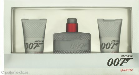 James Bond 007 Quantum Set de Regalo 50ml EDT + 2 x 50ml Gel de Ducha