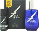 Parfums Bleu Limited Blue Stratos Set de Regalo 100ml EDT + 45ml Espuma de Afeitado
