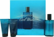 Davidoff Cool Water Set de Regalo 75ml Aftershave + 50ml Gel de ducha + 50ml Bálsamo Aftershave