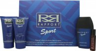 Dana Rapport Sport Set de Regalo 100ml EDT + 150ml Bálsamo Aftershave + 150ml Gel de Ducha + 20ml Rapport EDT