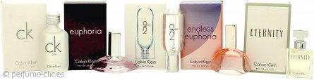 Calvin Klein Women Miniaturas Set de Regalo 10ml CK1 EDT + 4ml Euphoria EDP + 10ml CK2 EDT + 5ml Endless Euphoria EDP + 5ml Eternity EDP