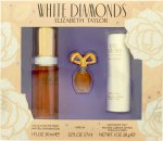 Elizabeth Taylor White Diamonds Set de Regalo 30ml EDT + 3.7ml Parfum +  28g Talco Perfumado
