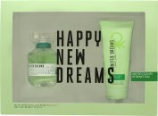 Benetton United Dreams Live Free Set de Regalo 80ml EDT + 100ml Loción Corporal
