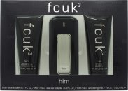 FCUK FCUK 3 Set de Regalo 100ml EDT + 200ml Gel Cabello & Cuerpo + 200ml Bálsamo Aftershave