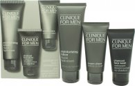 Clinique For Men Set de Regalo 100ml Loción Hidratante + 60ml Crema Afeitado + 50ml Charcoal Gel Facial
