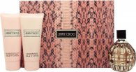 Jimmy Choo Set de Regalo 100ml EDP + 100ml Loción Corporal + 100ml Gel de ducha