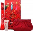 Kenzo Flower Tag Set de Regalo 100ml EDT + 50ml Crema de cuerpo + Neceser de Maquillaje
