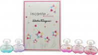 Salvatore Ferragamo Incanto Miniature Set de Regalo 5 x 5ml EDT (Dream + Charms + Heaven + Shine + Bloom)