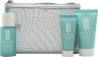 Clinique Hello, Clear Skin Anti-Blemish Solutions Set de Regalo 30ml Gel Limpiador + 30ml Loción Clarificante + 15ml All-Over Clearing Tratamiento