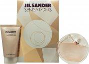 Jil Sander Sensations Set de Regalo 40ml EDT Vaporizador + 50ml Crema de Cachemir